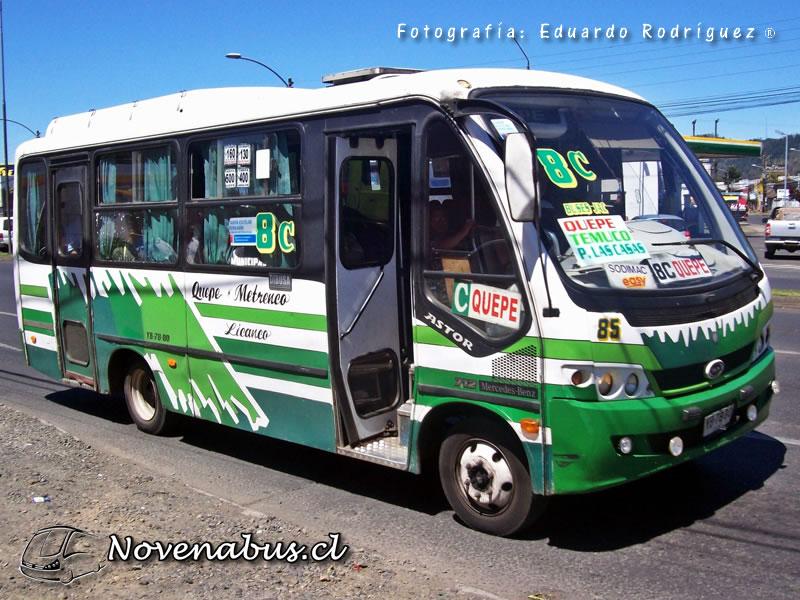 Resultado de imagen para Línea 8A Temuco